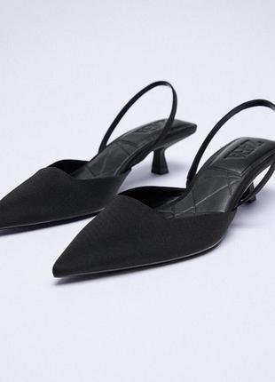 Zara черные туфли из новой коллекции