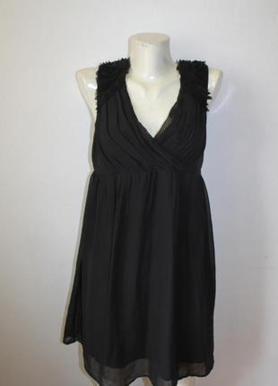 Черное легкое и воздушное платье