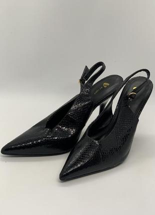 Туфли сабо чешуя