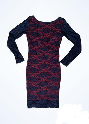 Облегающее женское платье
