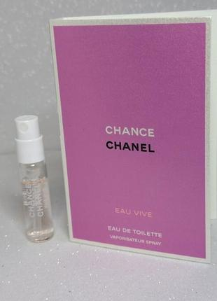 Chanel chance eau vive туалетная вода (пробник)