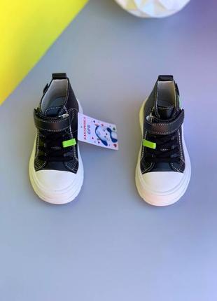 Ботинки кеды кроссовки на липучке демисезонные