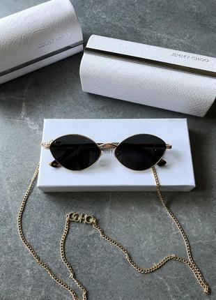 Солнцезащитные очки в стиле jimmy choo sonny/s sunglasses с цепочкой