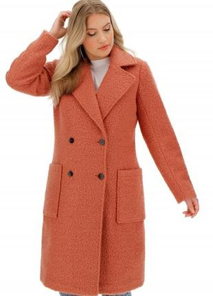 Длинное пальто миди пудровое тедди,чебурашка оверсайз от  capsule outerwear.