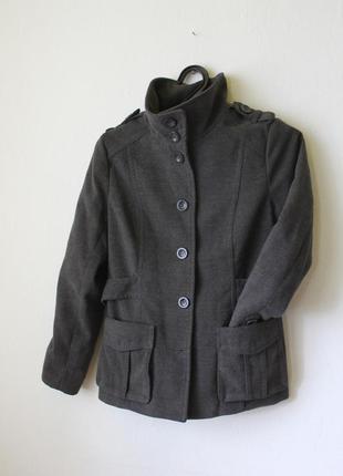 Пальто серое базовое2 фото
