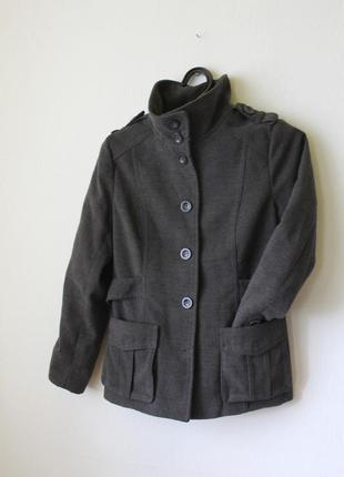 Пальто серое базовое3 фото