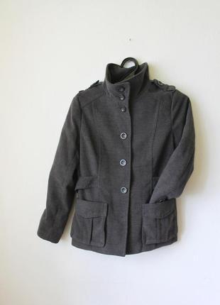 Пальто серое базовое5 фото