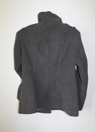 Пальто серое базовое4 фото