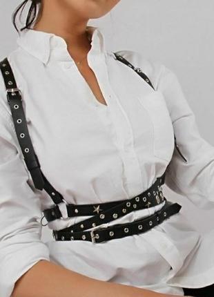 Портупея кожа италия,пояс женский,стреп,бандаж, корсет,пасок жіночий