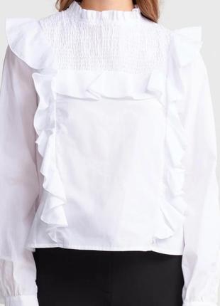 Белая блуза блузка dilvin