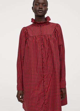 Плаття-сорочка  в клітинку
