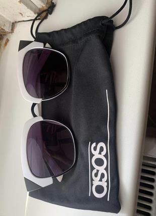 Солнцезащитные очки asos, черно белые универсальные и стильные