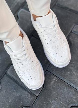 Белые женские кроссовки криперы кеды на высокой подошве платформе, кроссовки под платье