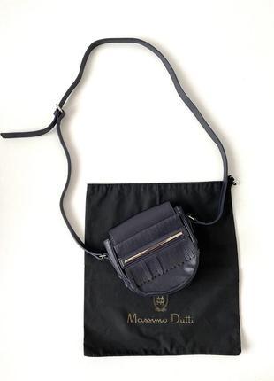 Massimo dutti кожаная сумка кроссбоди оригинал