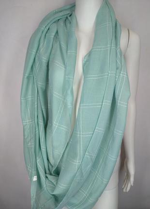 👛super sale -50%👛идеальный легкий шарф хомут мятного цвета 100% вискоза one size