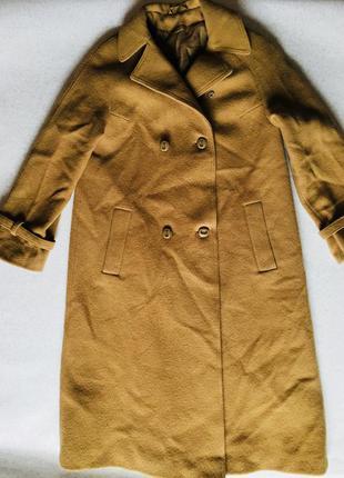 Пальто шерсть tailored by geoffrey leach зима весна тепло