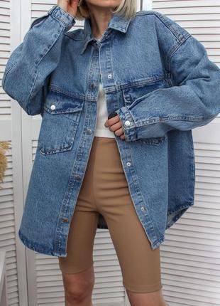 Розкішна масивна джинсовка в стилі ковбойської сорочки, нова!