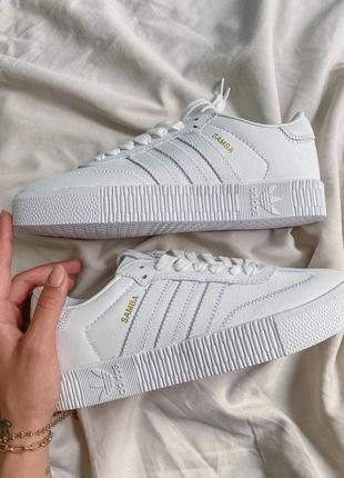 Ad1das samba white кроссовки адидас наложенный платёж купить