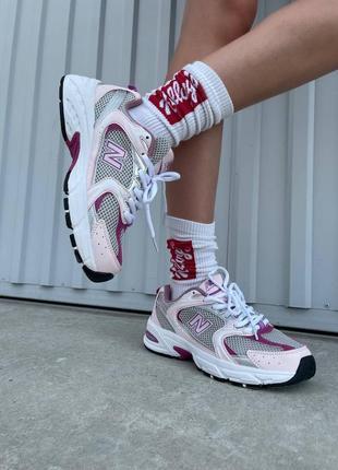 ❤ женские пудровые текстильные кроссовки  new balance 530 pink/purple ❤