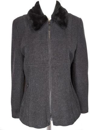 🔥обнова🔥трендовая куртка пиджак из шерстяного драпа 61% шерсть