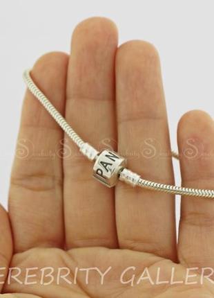 Серебряный браслет в стиле пандора sr ch240-б p sn 18 серебро 925