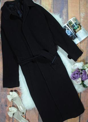Объемное шерстяное пальто-бойфренд 0550 next размер m/l