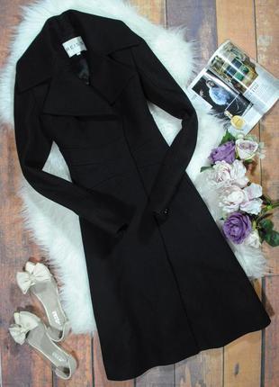 """Женственное пальто из шерсти в стиле """"new look"""" 0561 reiss размер xs приталенное черное"""