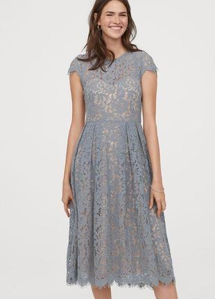 Новое кружевное платье h&m. размер 40