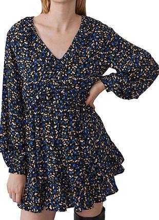 Платье свободное в цветы zara