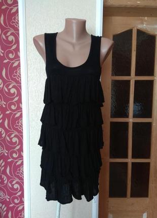 Трикотажне плаття з рюшками,розмір м