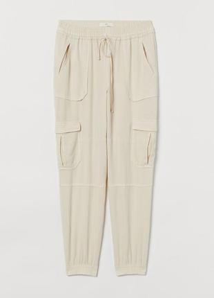 Новые шикарные брюки, штаны карго, джогеры h&m. размер 34-36-38