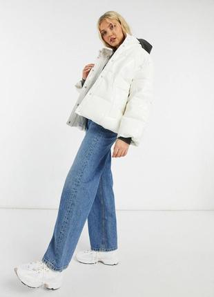 Куртка лаковая виниловая глянцевая оверсайз asos design