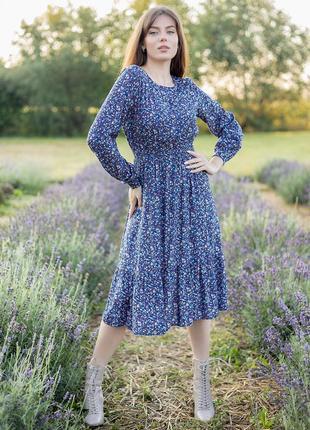 Нежное и милое платье в цветочный принт