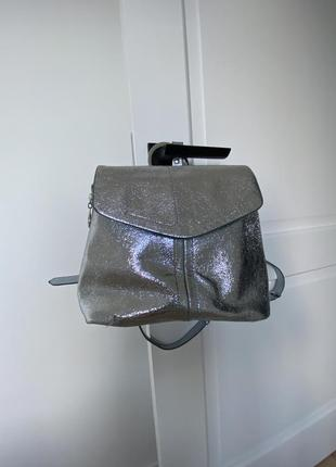 Рюкзак zara металлик