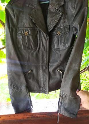 Натуральная кожаная куртка amisu