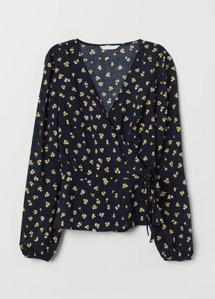 Блуза в цветочный принт на запах zara zara