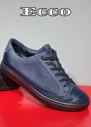 Кожаные женские кроссовки ecco soft 7 оригинал