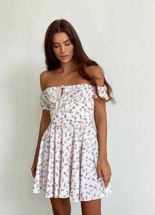 Платье принт 3 цвета