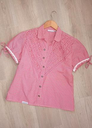"P.s-m ""stockerpoint"" блуза в баварском стиле, рубашка топ бавария"