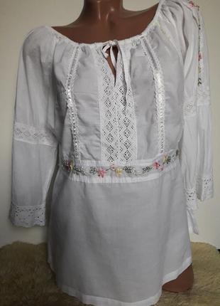 Блуза вышыванка вышита лентами....