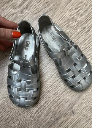 Аквашузы кораллки силиконовые резиновые сандали босоножки мыльницы серебристые ❤️