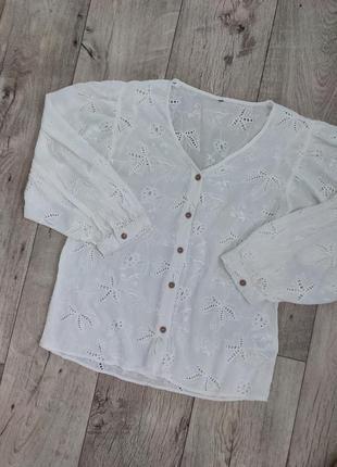 Шикарная рубашка с прошвы