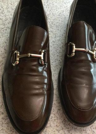 Фирменные мужские туфли лоферы . кожа 41/brend  guisti leombruni