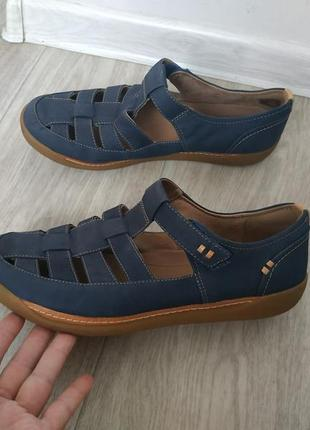 Кожаные туфли,мокасины clarks р.41 кожа