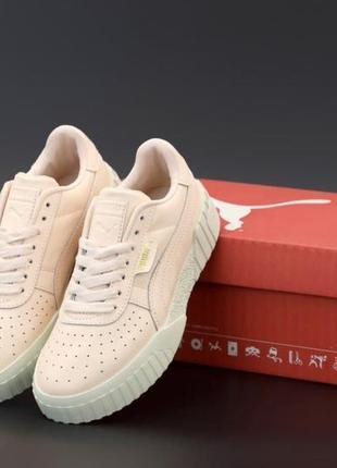 Жіночі кросівки 🌟puma cali pink white