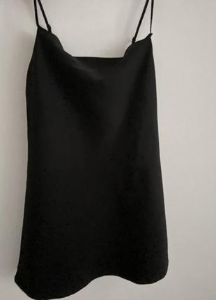 Черное платье asos в бельевом стиле