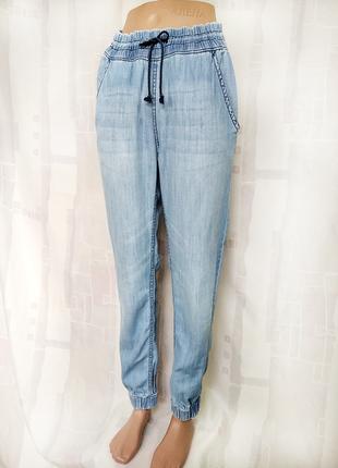Голубые джинсы джоггеры, 100% хлопок