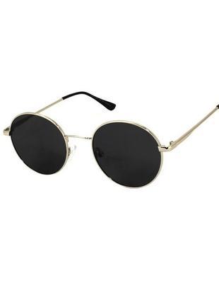 Очки солнечные круглые giovanni bros в золотой оправе