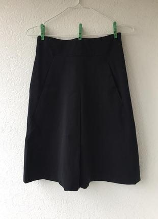 Классическая офисная юбка трапеция колокол миди