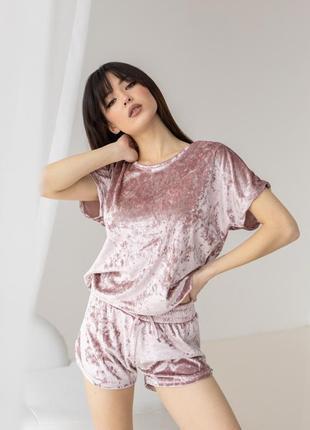 Пижама велюровая, домашний костюм от nicoletta